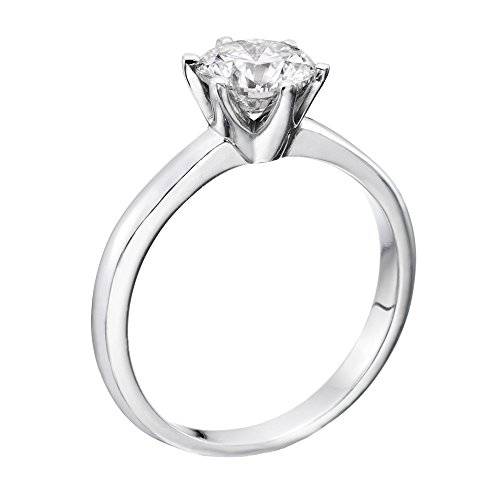 GIA Certified, Round Cut, Solitaire Diamond Ring in 14K Gold / White (2 ct, G Color, SI1 Clarity)