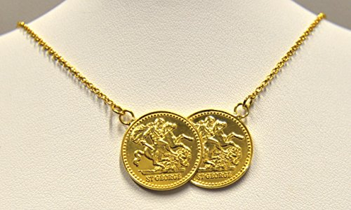 9ct Gold Double Coin Necklace