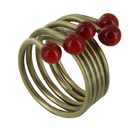 Les Poulettes Jewels – Brass Ring Glass Paste Pearl – Classics