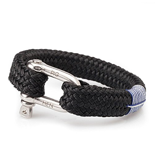 Pig and Hen P01-90000 Fat Fred Men's Bracelet Black