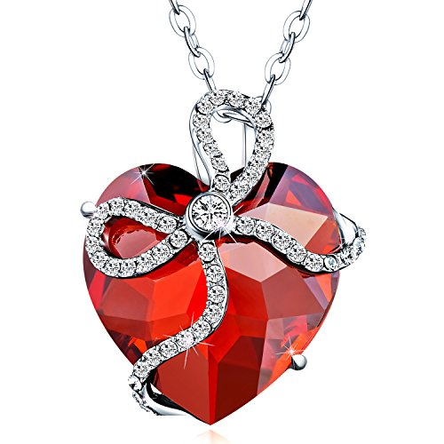 Voila Reve Heart Necklace Pendant Made with Austria Crystals
