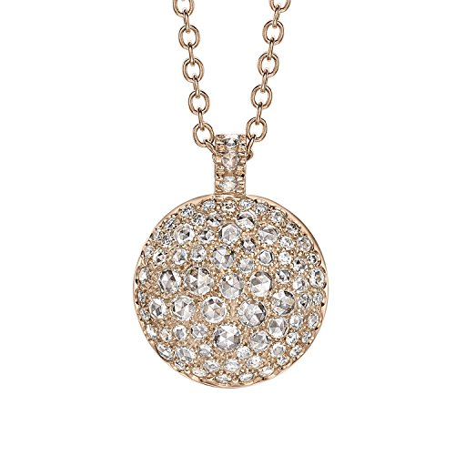 Roberto Marroni 18 ct Rose Gold, White Diamonds and White Rosecuts Bright Dot Necklace